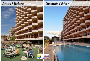 Before and after - Hotel Angela Fuengirola