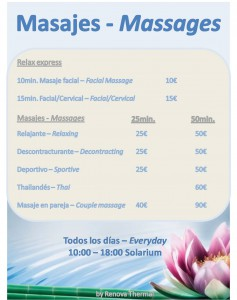 Massages. Summer 2013 - Hotel Angela Fuengirola