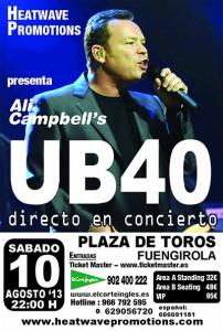 Concierto de Ali Campbell - Hotel Ángela Fuengirola